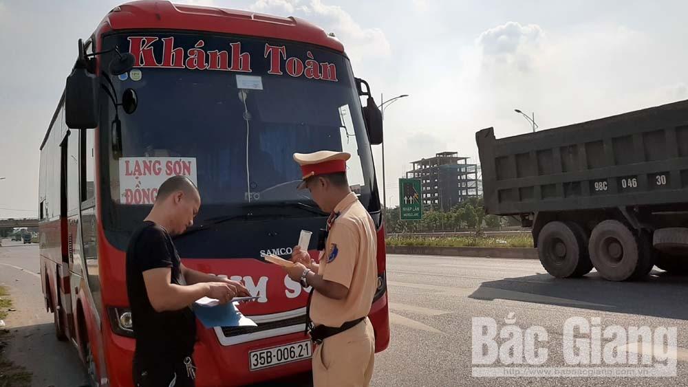 3 ngày đầu tổng kiểm soát phương tiện tại Bắc Giang: Lập biên bản 578 phương tiện, chủ yếu là mô tô
